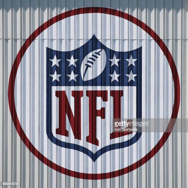 The NFL logo on a building at the Chiefs Training Facility during the Chiefs Rookie Camp on May 7 2017 at One Arrowhead Drive in Kansas City MO