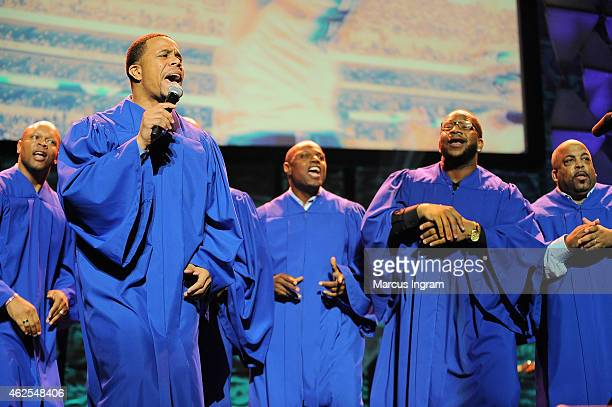 The NFL Players Choir performs at the 16th Annual Super Bowl Gospel Celebration at ASU Gammage on January 30 2015 in Tempe Arizona