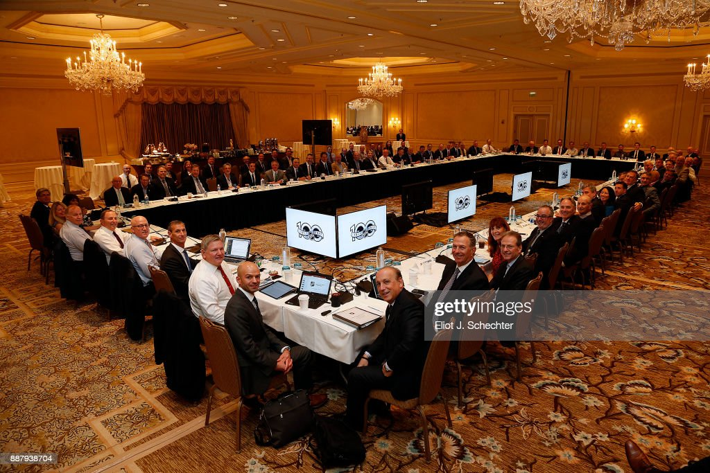 The NHL ruling and governing body meets at the NHL Board of Governors meeting on December 7, 2017 in Manalapan, Florida.