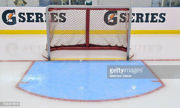 The NHL tested several new rule adjustments including a bigger crease and a yellow goal verification line during the 2010 NHL Research Development...