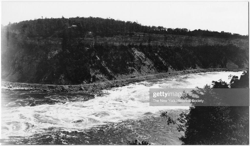 The Niagara River Gorge below the Falls Niagara Falls New York 1895