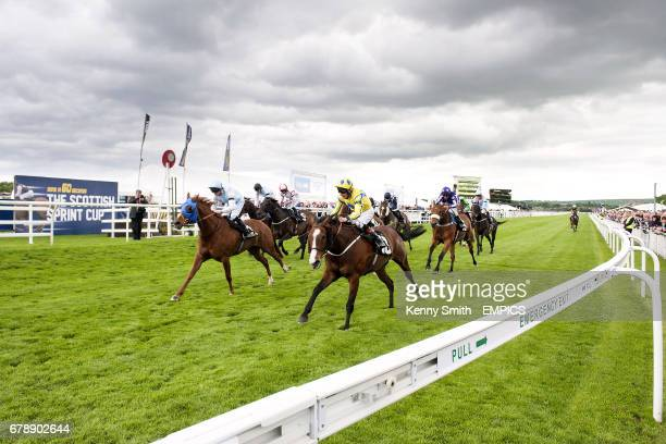 The Nifty Fox ridden by jockey James P Sullivan and Jedward ridden Philip Makin in the williamahillcom EBF Stallions Conditions Stakes