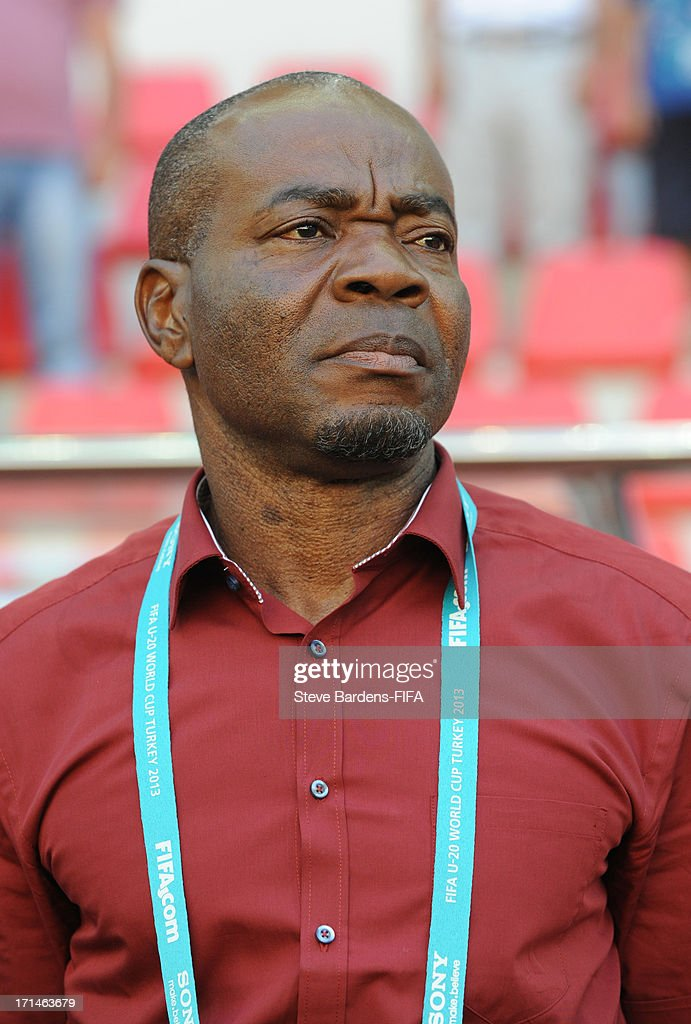 The Nigeria manager John Obuh before the FIFA U-20 world Cup Group B match between Cuba and Nigeria at Kadir Has Stadium on June 24, 2013 in Kayseri, Turkey.