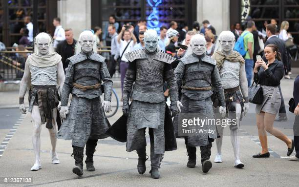 The Night King and White Walkers march through Oxford Circus to promote the forthcoming Game Of Thrones Season 7 on July 11 2017 in London England...