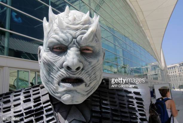 The Night King from the Game of Thrones roams ComicCon 2017 in San Diego California July 22 2017 / AFP PHOTO / Bill Wechter