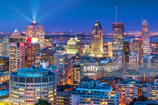 The night life of Montreal city