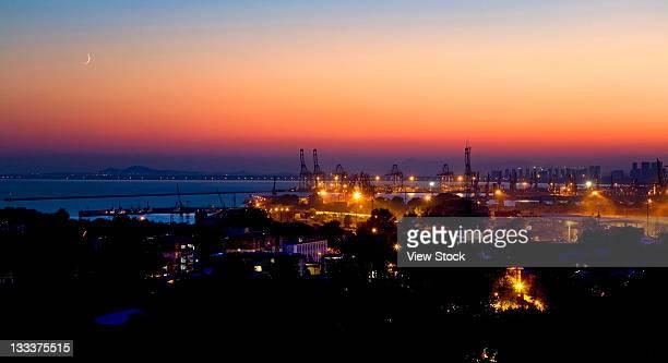 the night of marina in Qinhuangdao