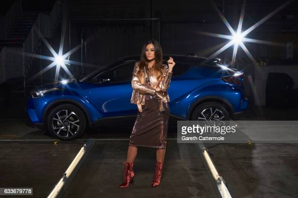 The Night that Flows saw Italian model Giorgia Palmas take centre stage on the catwalk of an Italian fashion show on February 2 2017 in London...