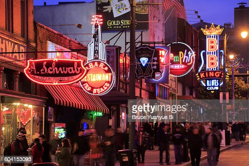 The night view of Beale Street