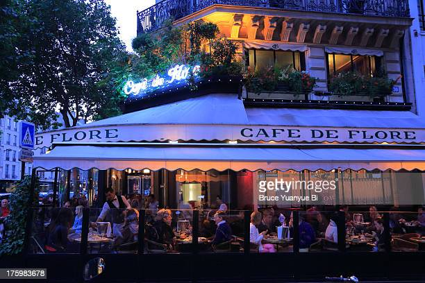 The night view of Cafe de Flore