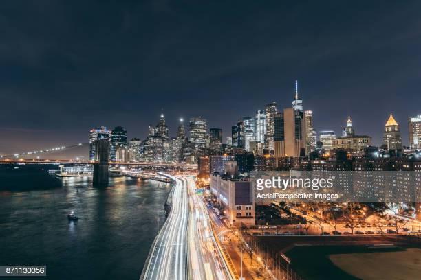 The Night view of Manhattan