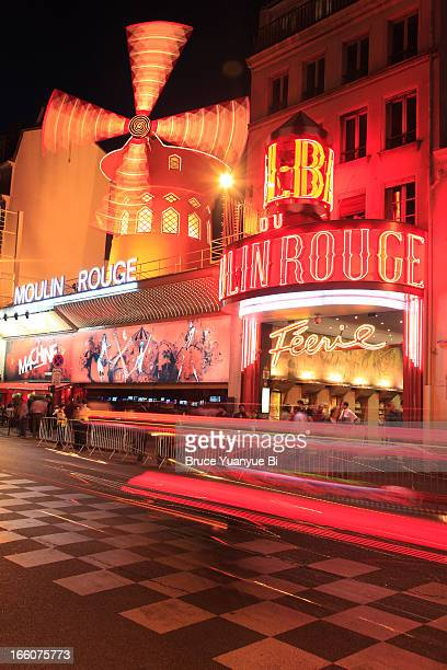 The night view of Moulin Rouge cabaret