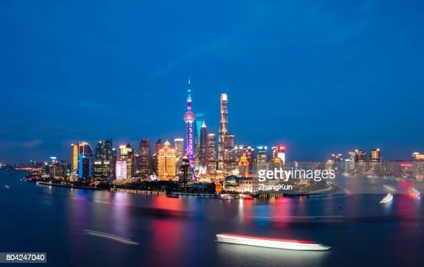 The night view of Shanghai,China