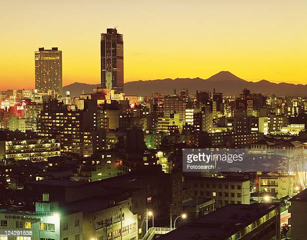 The night view of Shinjuku in Showa