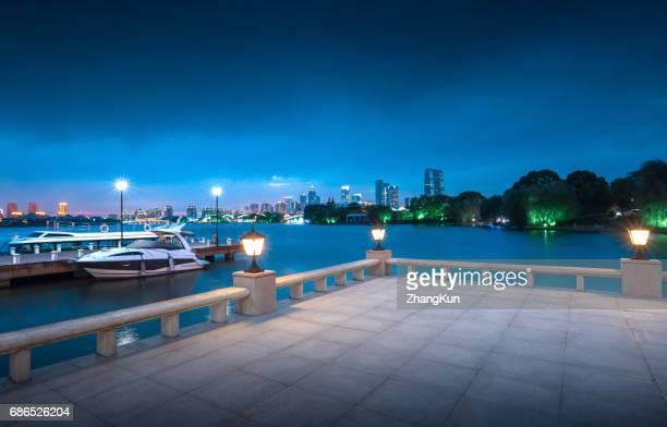 The night view of Suzhou,China