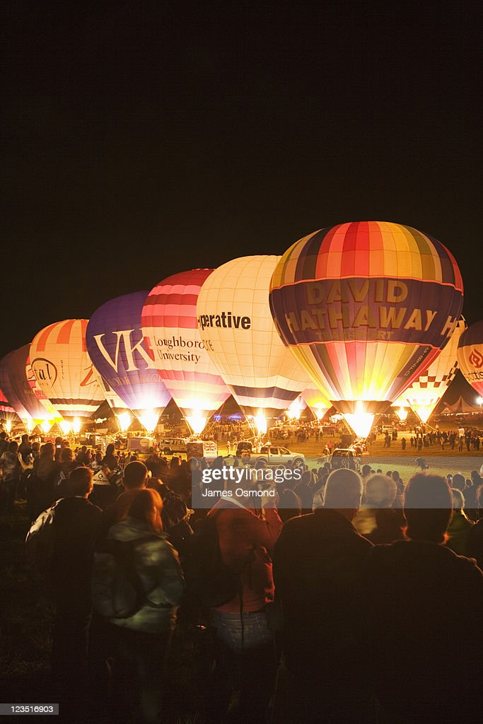 The Nightglow at Bristol Balloon Fiesta. Bristol. England. UK.