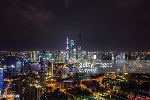 The nightscape of Lujiazui