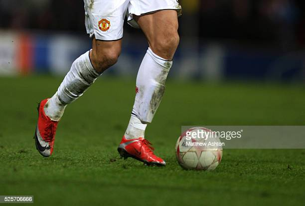 The Nike football boots of Cristiano Ronaldo of Manchester United