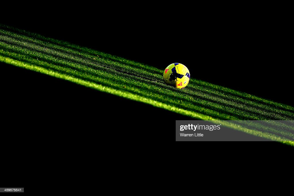 The Nike Incyte match ball is seen ahead of the Barclays Premier League match between West Ham United and West Bromwich Albion at Boleyn Ground on December 28, 2013 in London, England.