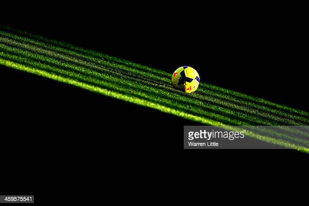 The Nike Incyte match ball is seen ahead of the Barclays Premier League match between West Ham United and West Bromwich Albion at Boleyn Ground on...