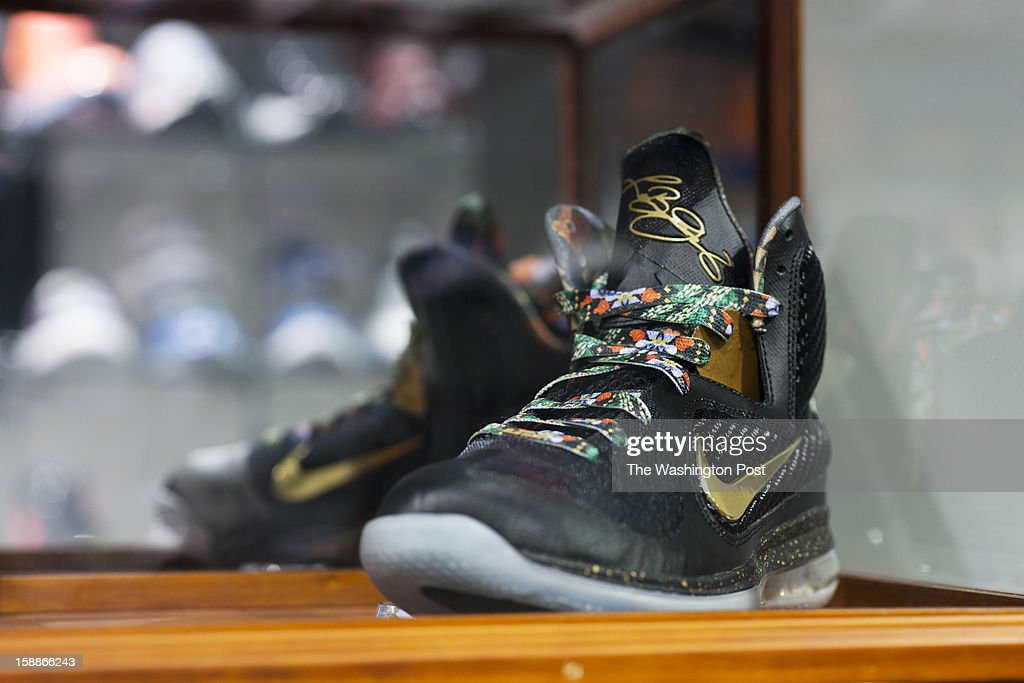 The Nike LeBron 9 Watch the Throne is the name of this pair of shoes, inspired by the music tour of Jay Z and Kanye West with the added signature of Lebron James. Only a few pairs of the special addition shoes were made and they never made it to the stores. They cost $5,000 at Kickk Spott in Washington, D.C. on December 28, 2012. Nike has worked with Jay Z and Kanye West before on shoes, and with the brother-like relationship that Jay-Z has with LeBron James, it made sense for them to put out a special edition version of the LeBron 9, specifically for the Watch The Throne Tour. Kickk Spott is the only ultra-high end sneaker shop in the area, and the only one that does consignment as well.