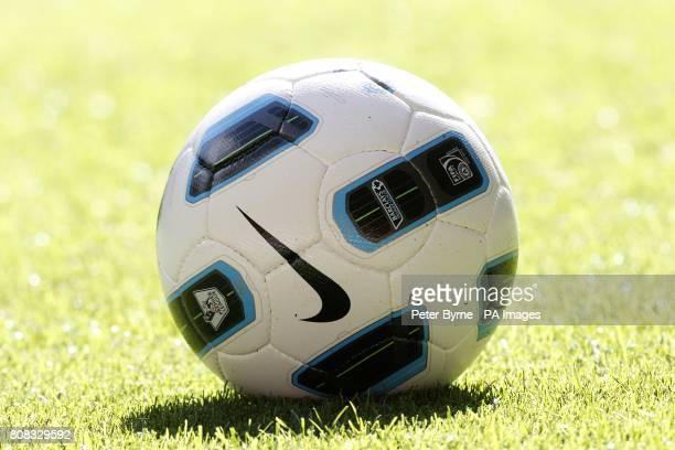 The Nike T90 Tracer ball the official matchball for the Barclays Premier League
