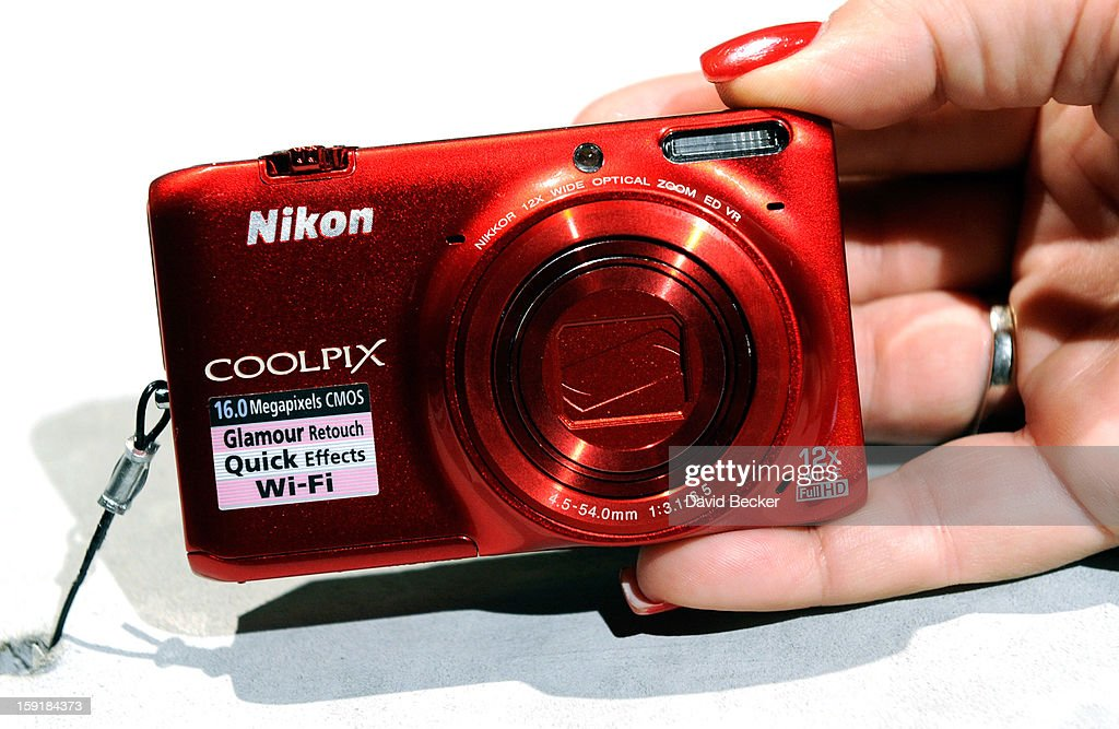 The Nikon Coolpix 6500 with built in WiFi is on display at the 2013 International CES at the Las Vegas Convention Center on January 9, 2013 in Las Vegas, Nevada. The pocket size camera will be available in February and sell for USD 219. CES, the world's largest annual consumer technology trade show, runs through January 11 and is expected to feature 3,100 exhibitors showing off their latest products and services to about 150,000 attendees.
