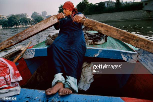 1991 The Nile River Cairo Egypt A fisherwoman and her child The fishermen and women of Cairo come mostly from villages they were forced to leave for...