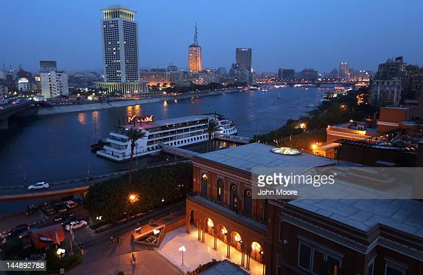The Nile River flows through the capital city on May 20 2012 in Cairo Egypt Sunday was the final day of campaigning ahead of next week's first...