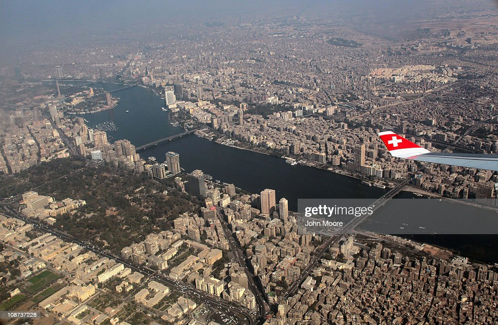 The Nile River stretches through downtown Cairo as violence wracks the city on February 2, 2011 in Cairo, Egypt. Yesterday President Hosni Mubarak announced that he would not run for another term in office, but would stay in power until elections later this year. Thousands of supporters of Egypt's longtime president and opponents of the regime clashed in Tahrir Square, throwing rocks and fighting with improvised weapons.