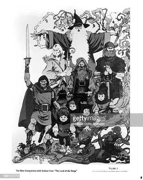 The Nine Companions from the film 'The Lord Of The Rings' 1978