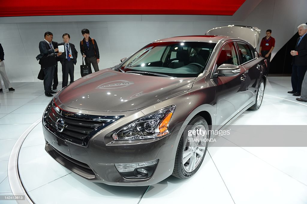 The Nissan Altima is viewed during the first day of press previews at the New York International Automobile Show April 4 2012 in New York AFP...