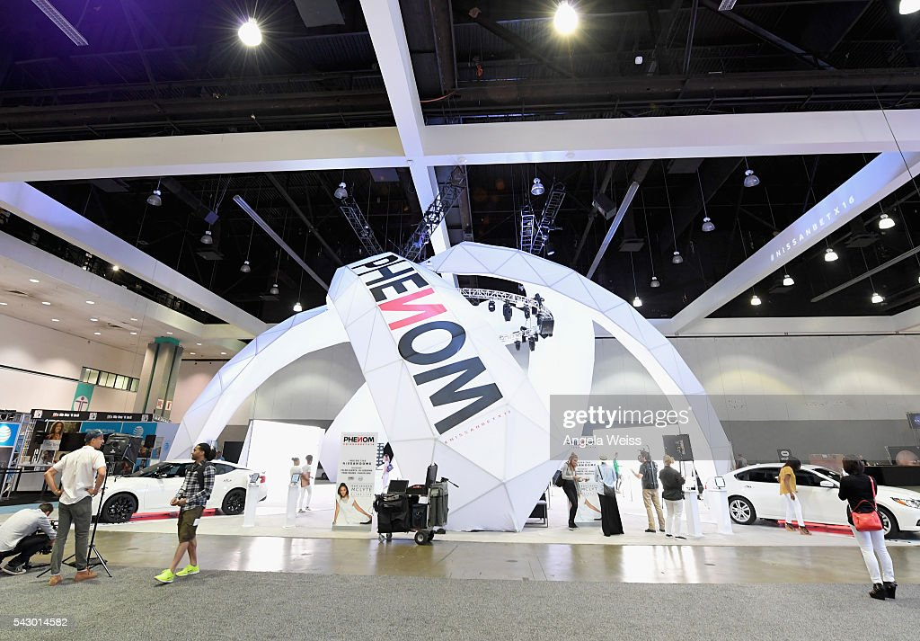 The Nissan Dome is seen during FAN FEST during the 2016 BET Experience on June 25, 2016 in Los Angeles, California.