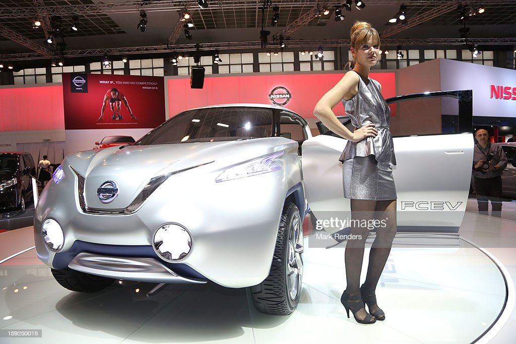 The Nissan FCEV is displayed at the 91st edition of the European Motor Show at Brussels Expo on January 10, 2013 in Brussels, Belgium.