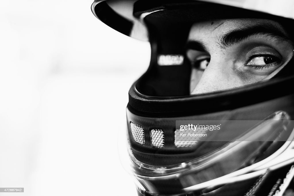 The Nissan GTR NISMO GT3 driver Sean Walkinshaw prepares before the Main Race during the Blancpain GT Sprint Series event at Brands Hatch on May 10...