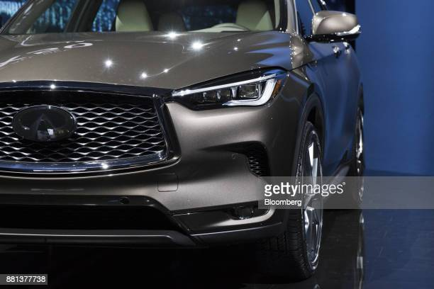 The Nissan Motor Co Infiniti QX50 sports utility vehicle is displayed during a reveal event in Los Angeles California US on Tuesday Nov 28 2017 The...
