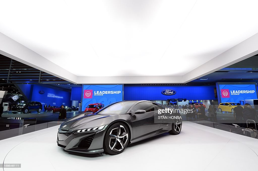 The Nissan NSX concept high performance car on display at the 2013 North American International Auto Show in Detroit, Michigan, January 15, 2013. AFP PHOTO/Stan HONDA