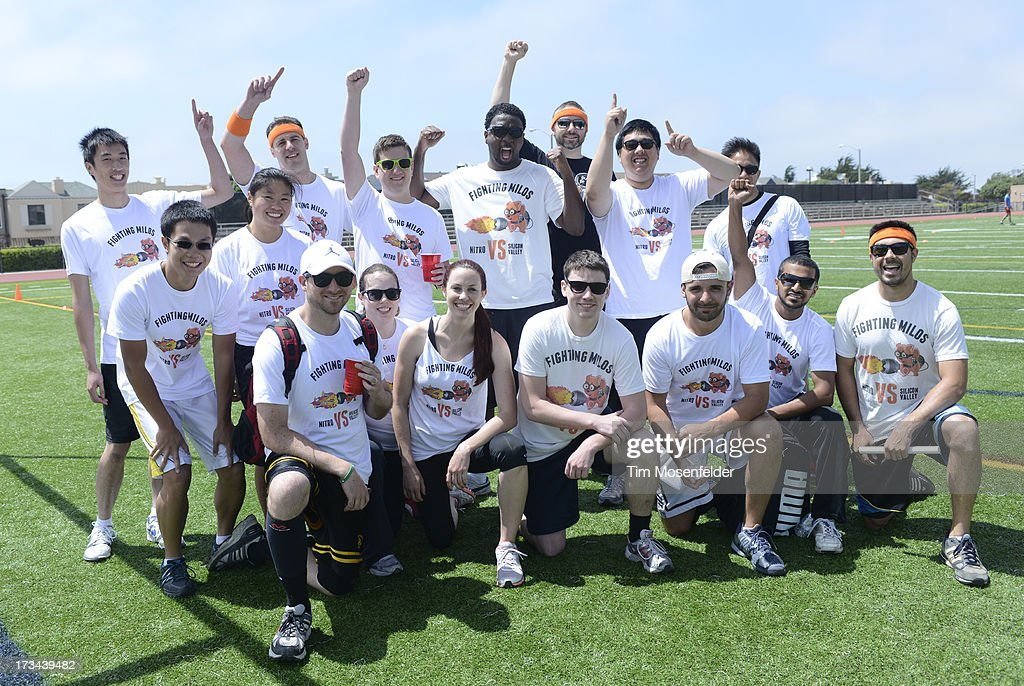 The Nitro team pose at the Founder Institute's Silicon Valley Sports League on July 13, 2013 in San Francisco, California.