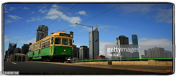 The No8 tram in Domain Road Melbourne A campaign is underway to save the WClass tram