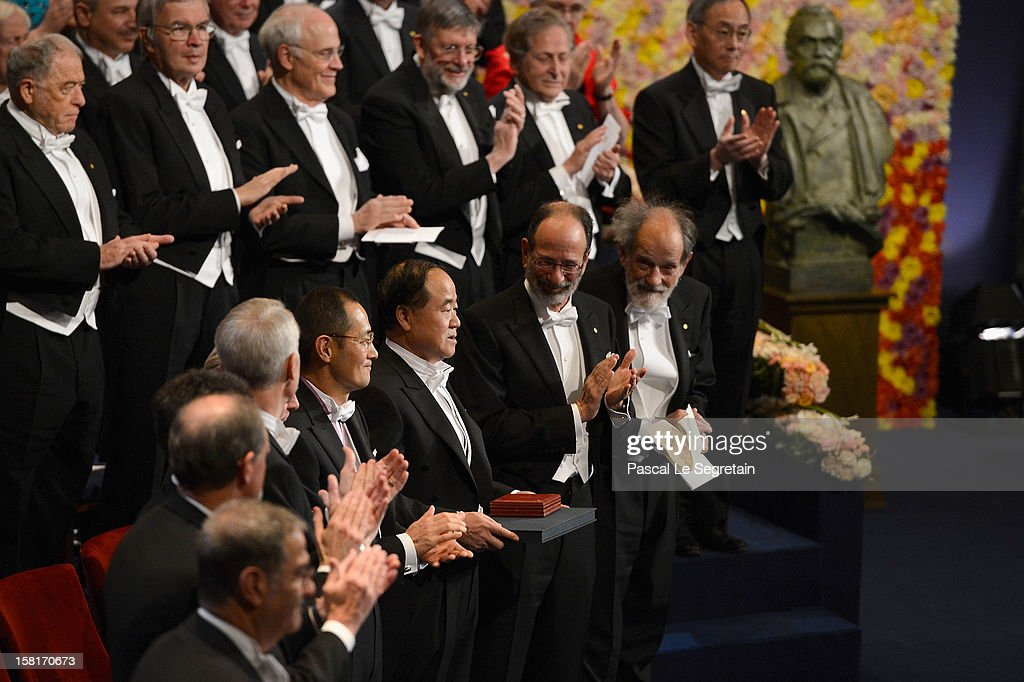 The Nobel Prize laureates attend the Nobel Prize Ceremony at Concert Hall on December 10, 2012 in Stockholm, Sweden.