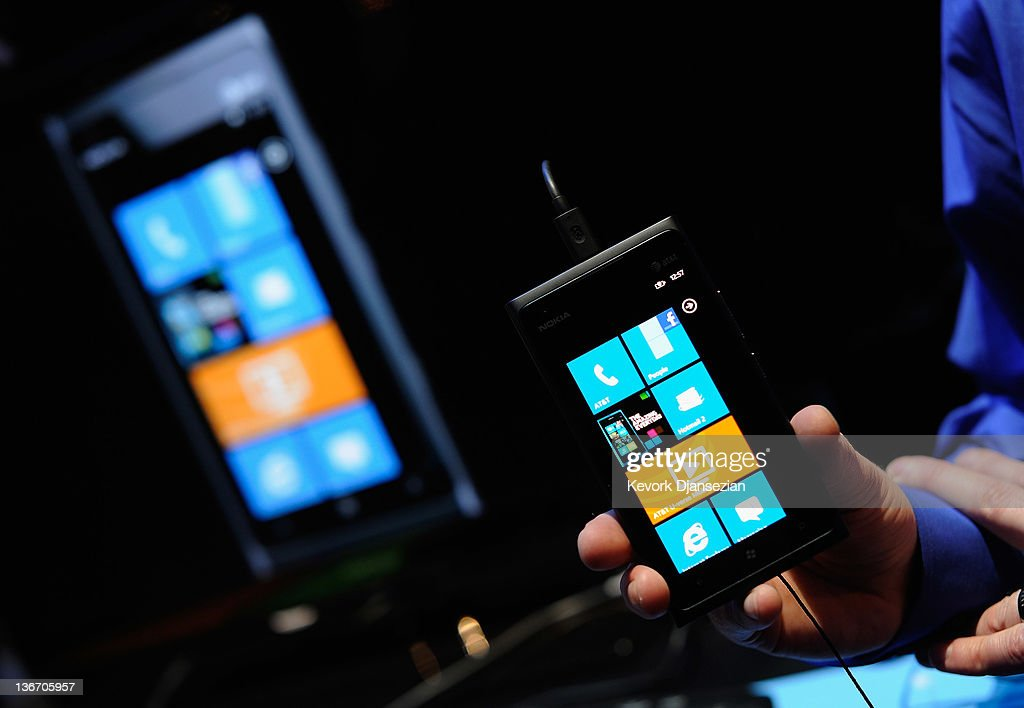 The Nokia Lumia 900 Windows Phone is displayed at the 2012 International Consumer Electronics Show at the Las Vegas Convention Center January 10, 2012 in Las Vegas, Nevada. CES, the world's largest annual consumer technology trade show, runs through January 13 and is expected to feature 2,700 exhibitors showing off their latest products and services to about 140,000 attendees.