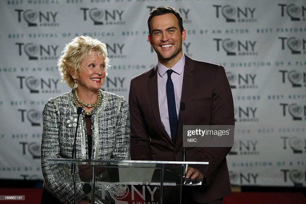 SMASH -- 'The Nominations' Episode 216 -- Pictured: (l-r) Christine Ebersol as herself, <a gi-track='captionPersonalityLinkClicked' href=/galleries/search?phrase=Cheyenne+Jackson&family=editorial&specificpeople=216481 ng-click='$event.stopPropagation()'>Cheyenne Jackson</a> as himself --