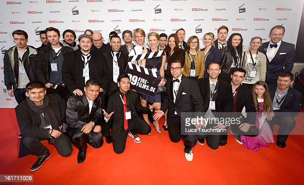 The Nominees attends the 5th '99FireFilmsAward' Red Carpet Arrivals at Admiralspalast on February 14 2013 in Berlin Germany
