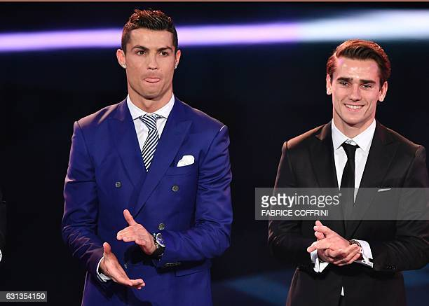 The nominees for The Best FIFA Mens Player of 2016 award Real Madrid and Portugal's forward Cristiano Ronaldo and Atletico Madrid and France's...
