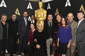 The nominees for the Documentary feature attend the 88th annual Academy Awards Oscar Week celebrates Documentaries at AMPAS Samuel Goldwyn Theater on...