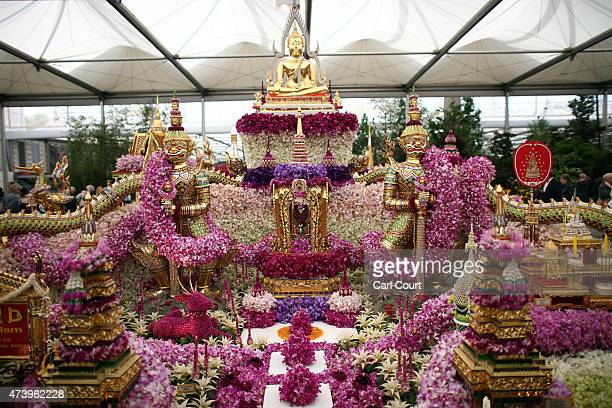 The Nong Nooch Tropical Botanical Garden is pictured on the first public day of the Chelsea Flower Show on May 19 2015 in London England The show...