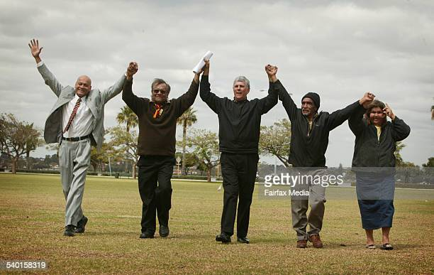 The Noongar people have won native title over Perth with the judgment being handed down by Justice Wilcox From left to right Peter David CEO Noongar...