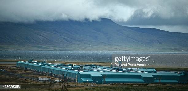 The Nordural aliminum smelting plant stands on the Hvalfordur fjord in Iceland Tuesday Sept 10 2013 The Hvalfjordur is a deep fjord that reaches far...