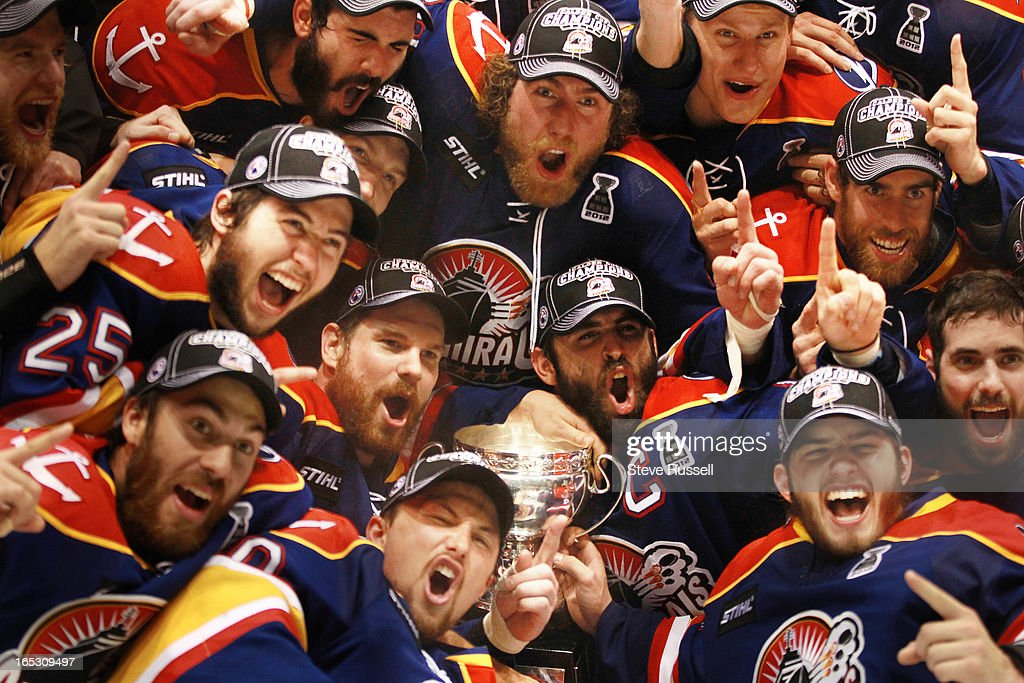 The Norfolk Admirals beat the Toronto Marlies 61 to win the Calder Cup in four straight games at the Ricoh Coliseum in Toronto June 9 2012 STEVE...