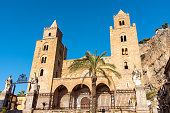 The norman cathedral of Cefalu in Sicily, Italy